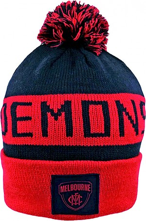 Melbourne Demons Traditional Bar Beanie