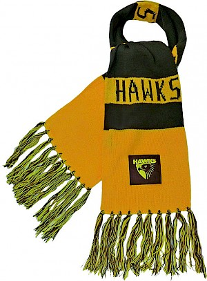 Hawthorn Hawks Traditional Bar Scarf