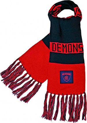 Melbourne Demons Traditional Bar Scarf