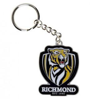 Richmond Tigers Metal Logo Key Ring