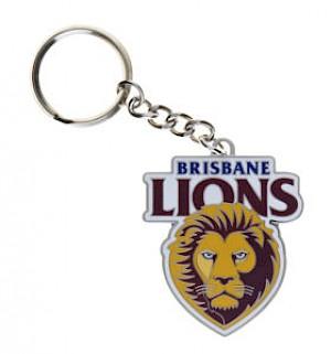 Brisbane Lions Metal Logo Key Ring