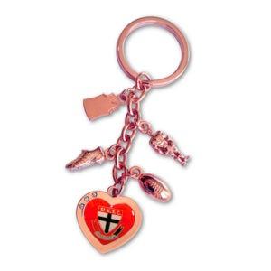 St Kilda Saints Charm Key Ring