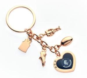 Carlton Blues Charm Key Ring