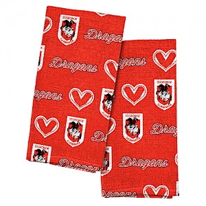St. George Illawarra Dragons 2pk Tea Towels