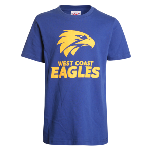 West Coast Eagles Logo Tee - Size 10