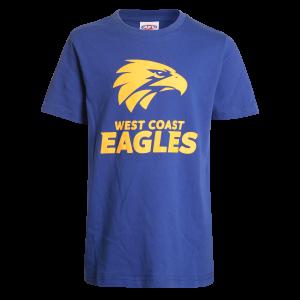 West Coast Eagles Logo Tee - Size 14