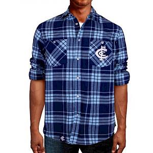 Carlton Blues Flannel Shirt - Size M