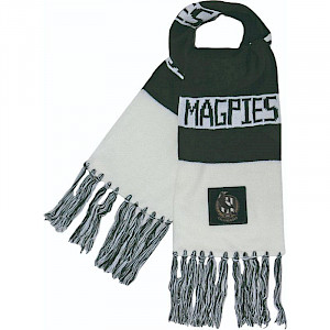 Collingwood Magpies Traditional Bar Scarf