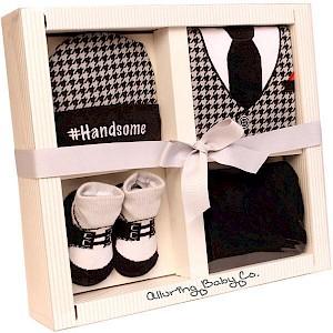"""Handsome"" 4 Piece Baby Gift Set"