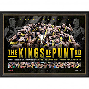 """Richmond Tigers Premiers 2019 Wall Picture """"The Kings of Punt Rd"""""""