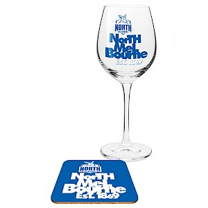 North Melbourne Kangaroos Wine Glass and Coaster