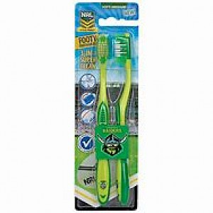 Canberra Raiders 2 Pack Toothbrush
