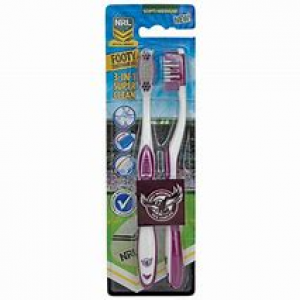 Manly Warringah Sea Eagles 2 Pack Toothbrush