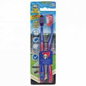 Newcastle Knights 2 Pack Toothbrush