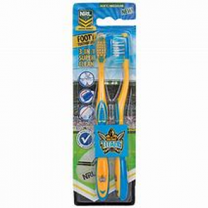 Gold Coast Titans 2 Pack Toothbrush