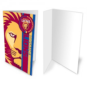 Brisbane Lions Badge Card