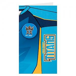 Gold Coast Titans Badge Card