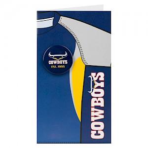 North Queensland Cowboys Badge Card