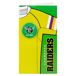 Canberra Raiders Badge Card