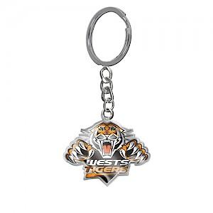 Wests Tigers Enamel Logo Key Ring