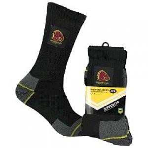 Brisbane Broncos 2PK Work Socks