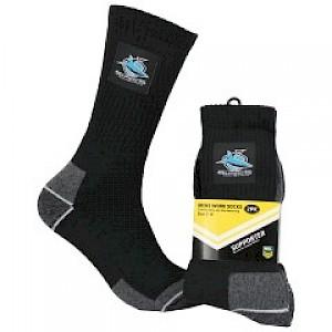 Cronulla Sharks 2PK Work Socks