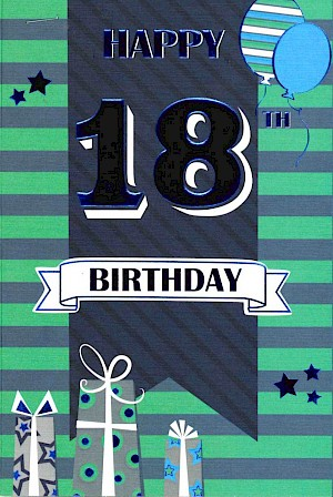 18th Birthday Card #E059