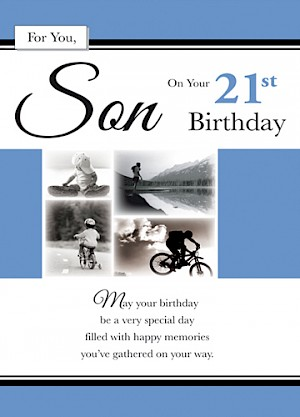 21st Birthday Son Card #E062
