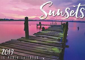 2019 Sunsets 16 Month Calendar #CAL19019