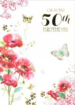 50th Birthday Card #E095