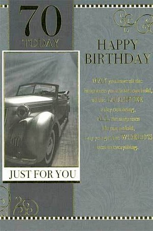 70th Birthday Card #E071