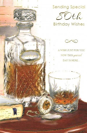 80th Birthday Card #E073