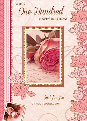 100th Birthday Card - E104