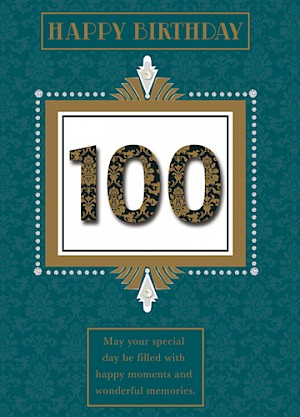 100th Birthday Card - E076