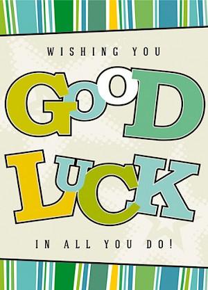 Good Luck Card - E972