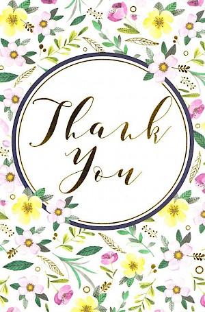 Thank you Card - E953