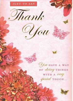 Thank you Card - E954