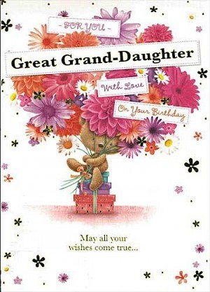 Great Grand-Daughter Birthday Card - E422