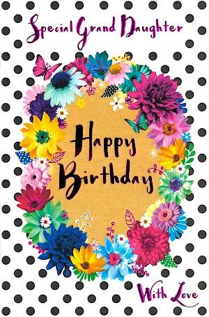 Grand-daughter Birthday Card - E419