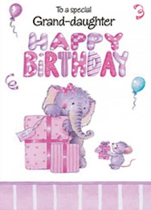 Grand-daughter Birthday Card #E421-3