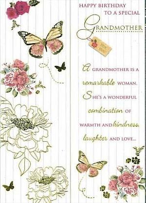 Grandmother Birthday Card #E417