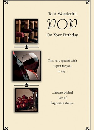 Pop Birthday Card #E304