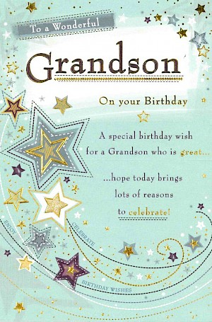 Grandson Birthday Card #E320