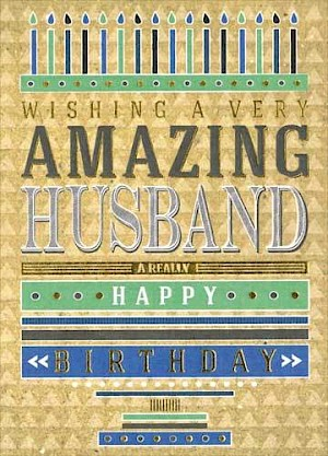 Husband Birthday Card #E301