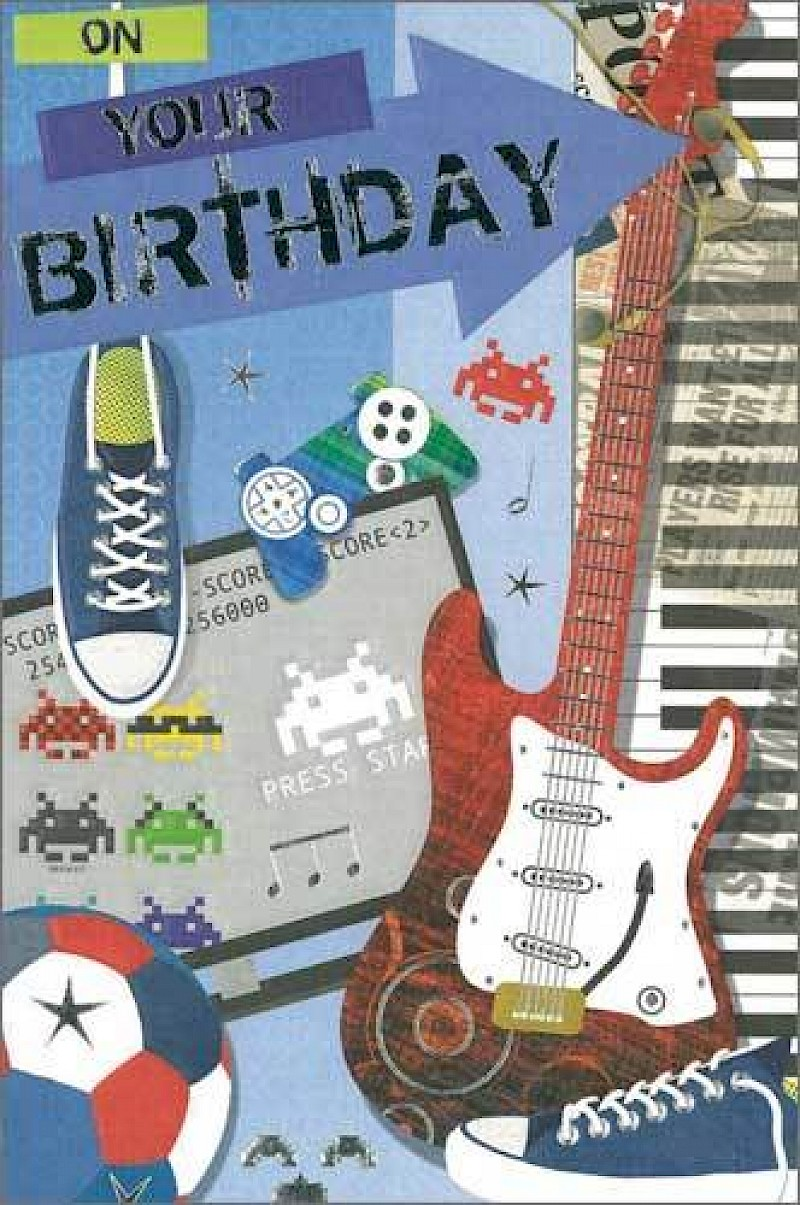 Teenage Boy Birthday Card E120