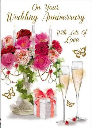 Your Wedding Anniversary Card #E733