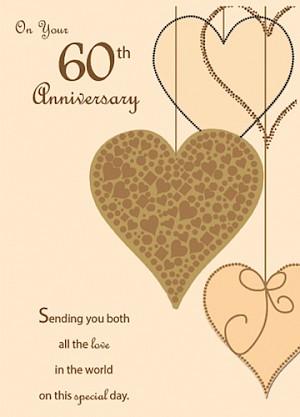 60th Wedding Anniversary Card #E727