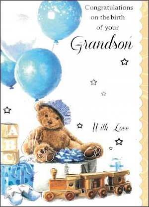 Grandparents - Birth of Grandson Card #E815