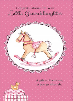 Grandparents - Birth of Granddaughter Card #816