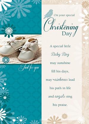 Christening Card - Baby Boy #E811